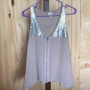 Buckle sequined tank